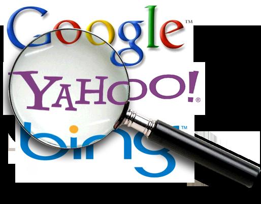 Buscadores, Yahoo, Google e Bing