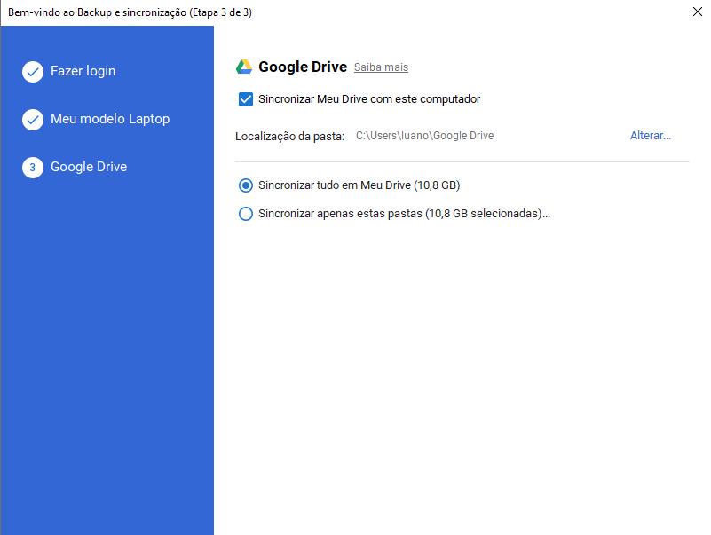 Passo 5 para configurar Backups automáticos de documentos para Nuvem